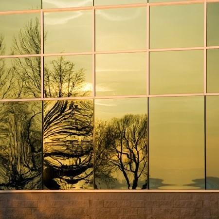 Sonnenschutzfolie Fenster Innen Gold