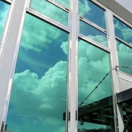 Sonnenschutzfolie Fenster Innen Grün