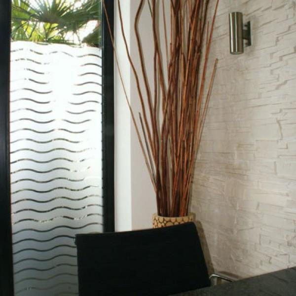 Dekorfolie weiße Wellen 45 mm matt