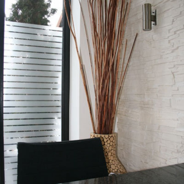 Fenster Dekorfolie Streifen weiß matt 35mm