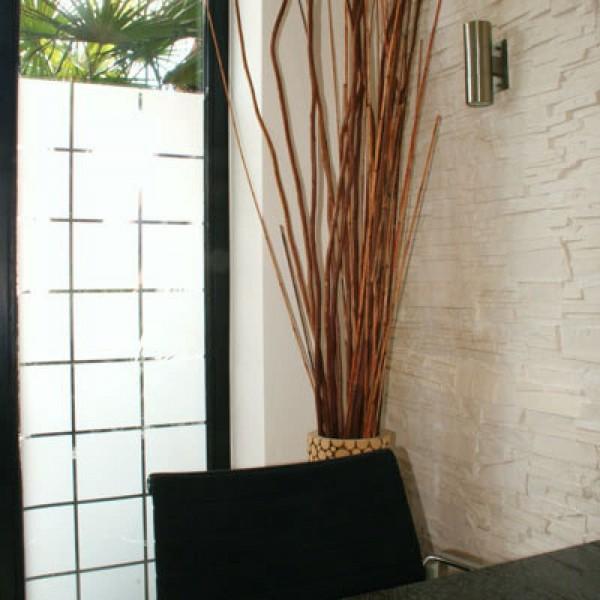 Dekor Fensterfolie kariert glänzend 180x180mm