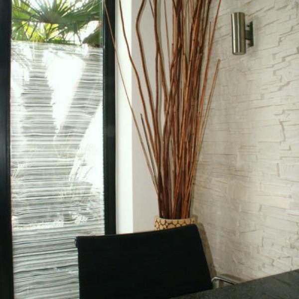 Fenster Dekorfolie Holzoptik weiß